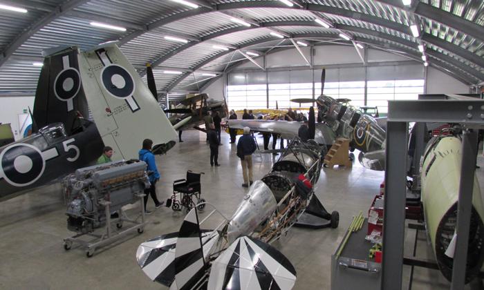 Trig opens hangar doors for VIP winners