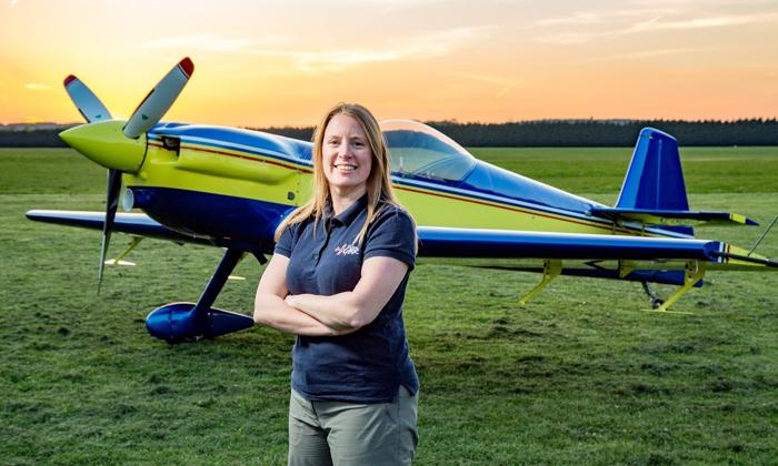British Aerobatic Pilot, Emily Collett, Appoints Trig.