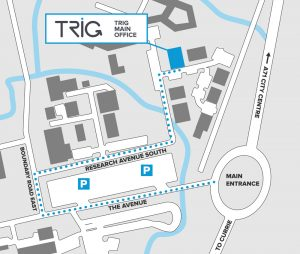 Trig Avionics - Contact Us - Edinburgh Office Map